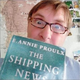 Bob Pomfret holding The Shipping News